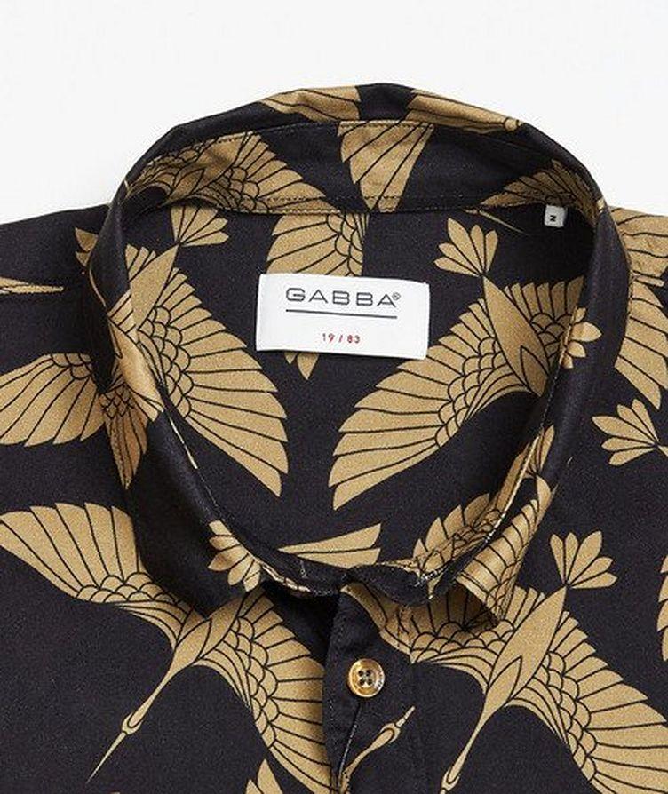 Rami Short-Sleeve Bird-Printed Shirt image 1