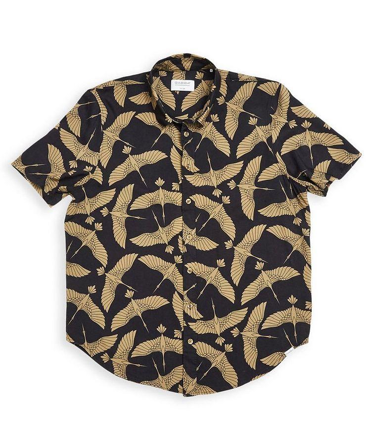 Rami Short-Sleeve Bird-Printed Shirt image 0