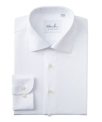 Harry Rosen Signature Contemporary Fit Textured Cotton Dress Shirt