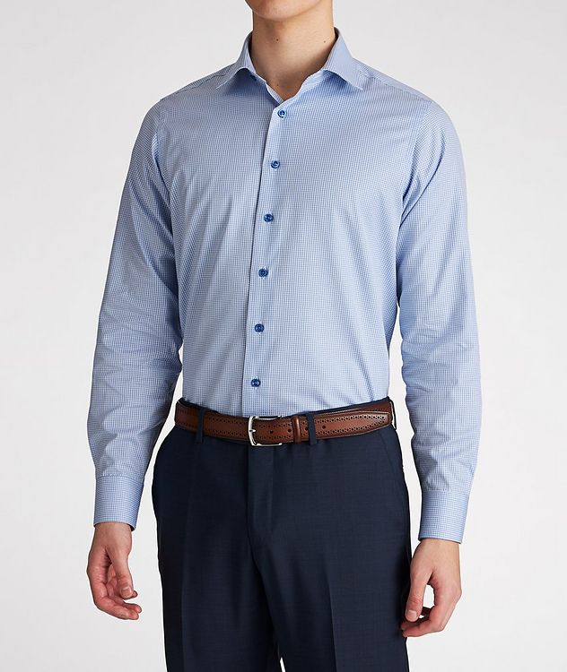 Contemporary Fit Gingham-Printed Cotton Dress Shirt picture 2