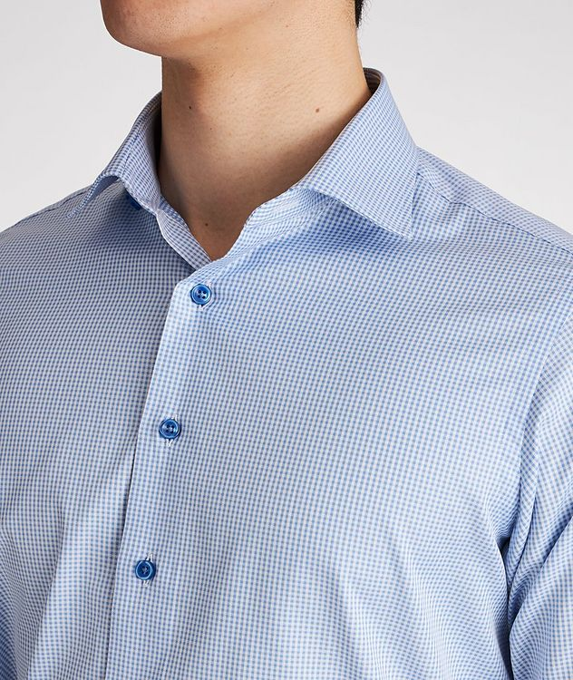 Contemporary Fit Gingham-Printed Cotton Dress Shirt picture 4