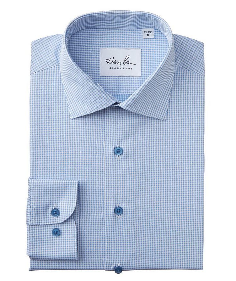 Contemporary Fit Gingham-Printed Cotton Dress Shirt image 0
