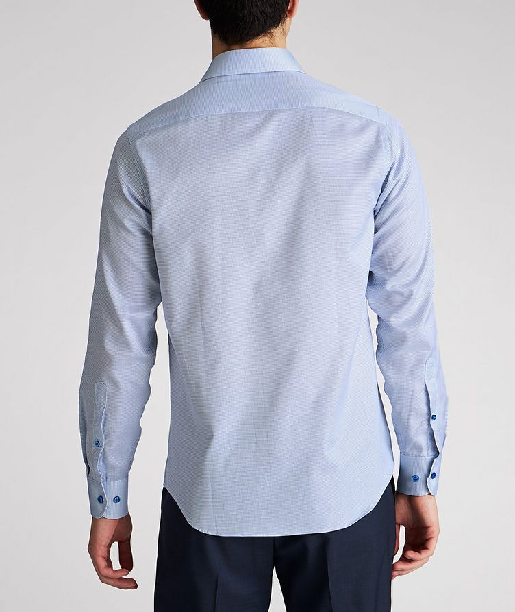Contemporary Fit Micro-Checked Cotton Dress Shirt image 2