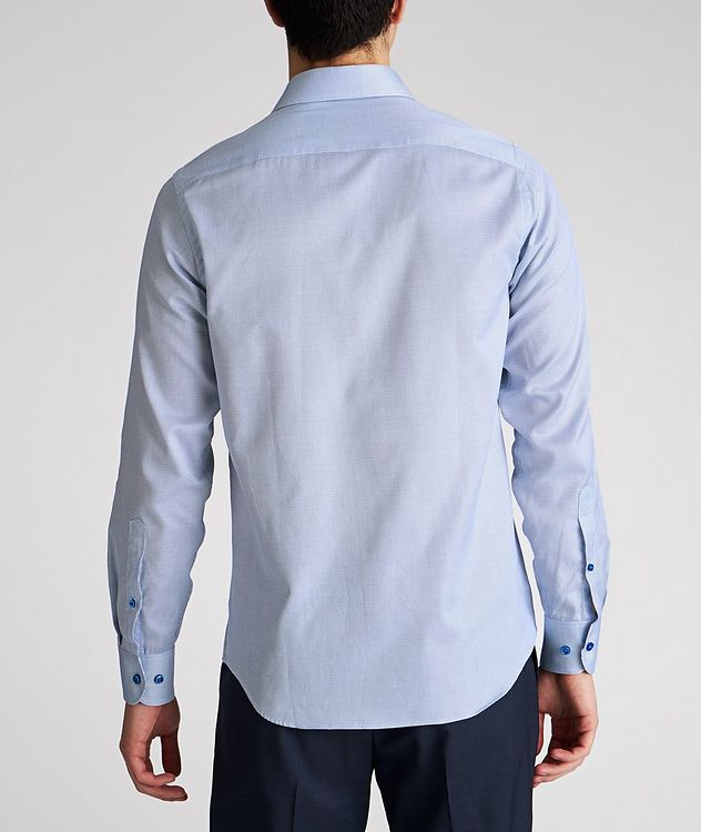 Contemporary Fit Micro-Checked Cotton Dress Shirt picture 3