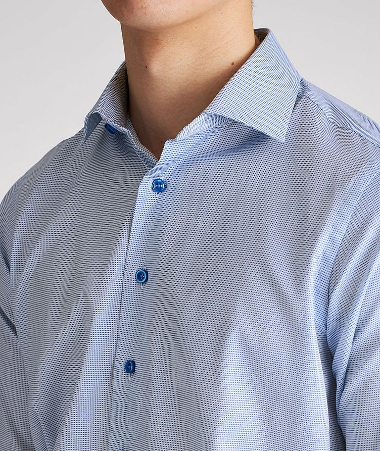Contemporary Fit Micro-Checked Cotton Dress Shirt image 3