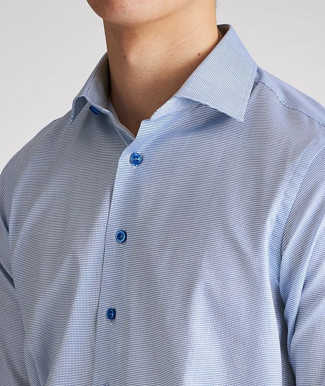 Contemporary Fit Micro-Checked Cotton Dress Shirt picture 4