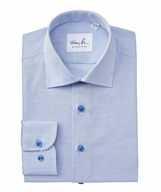 Harry Rosen Signature Contemporary Fit Micro-Checked Cotton Dress Shirt