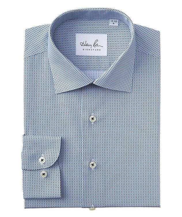 Contemporary Fit Diamond-Printed Cotton Dress Shirt picture 1