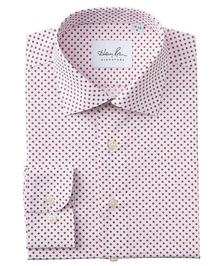 Contemporary Fit Diamond-Printed Cotton Dress Shirt image 0