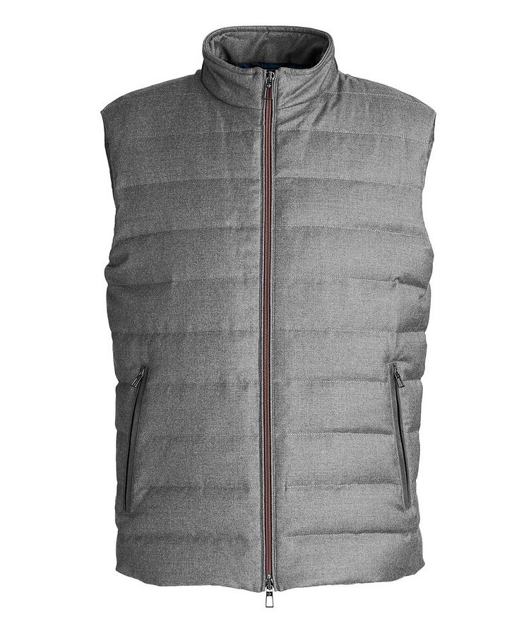 Quilted Wool-Silk Flannel Bomber Jacket image 0