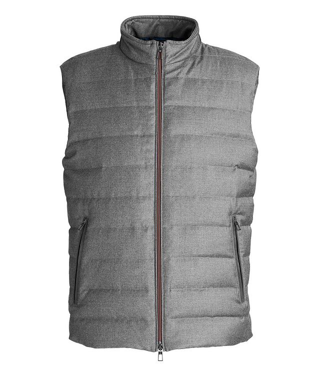 Quilted Wool-Silk Flannel Bomber Jacket picture 1
