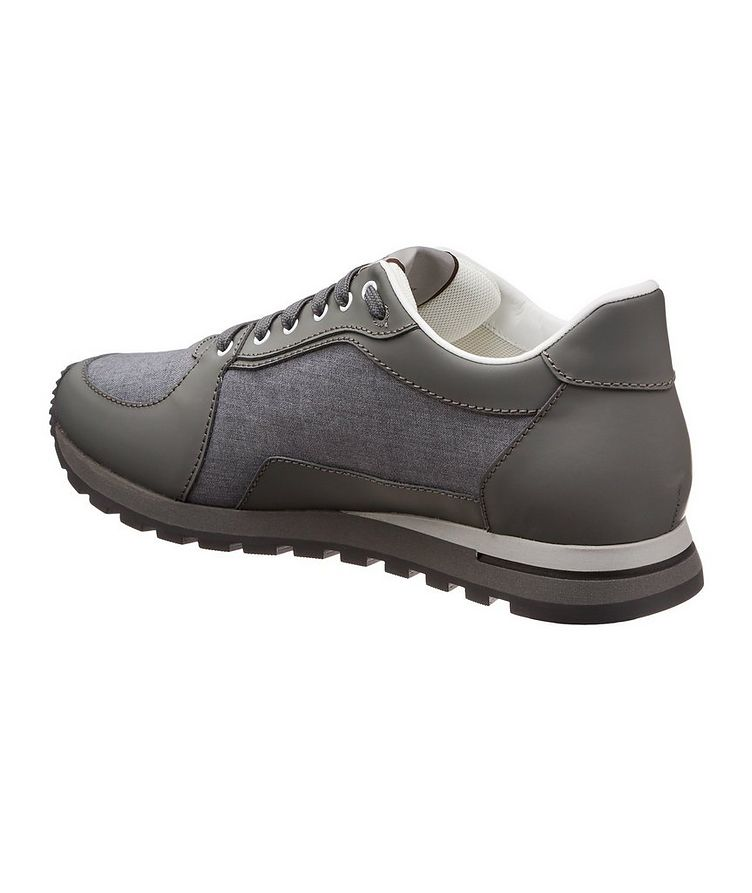Leather & Nylon Sneakers image 1
