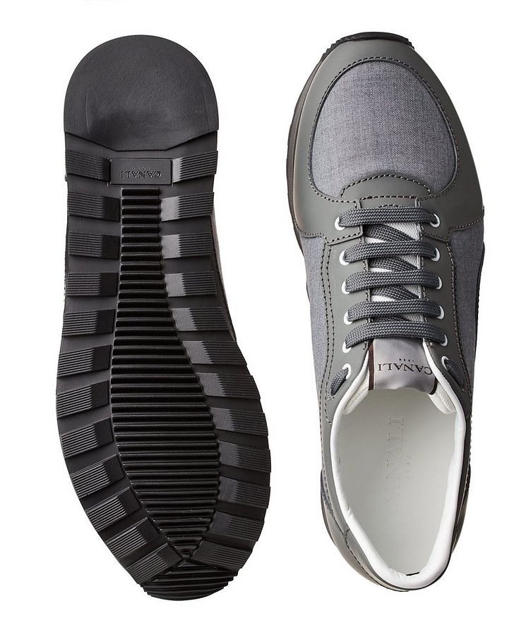 Leather & Nylon Sneakers image 2