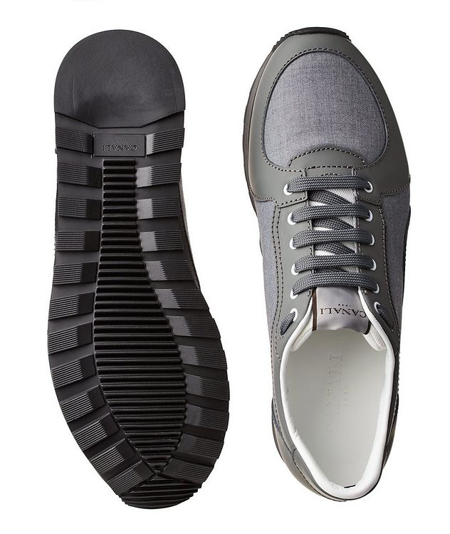 Leather & Nylon Sneakers picture 3