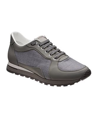 Canali Leather & Nylon Sneakers