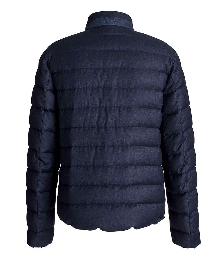 Quilted Wool-Silk Flannel Bomber Jacket image 1