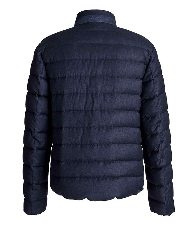 Quilted Wool-Silk Flannel Bomber Jacket picture 2