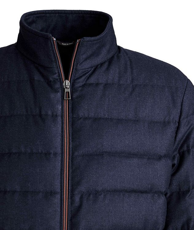 Quilted Wool-Silk Flannel Bomber Jacket picture 4