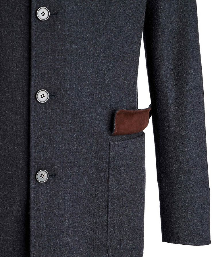Unstructured Cashmere Overcoat image 3