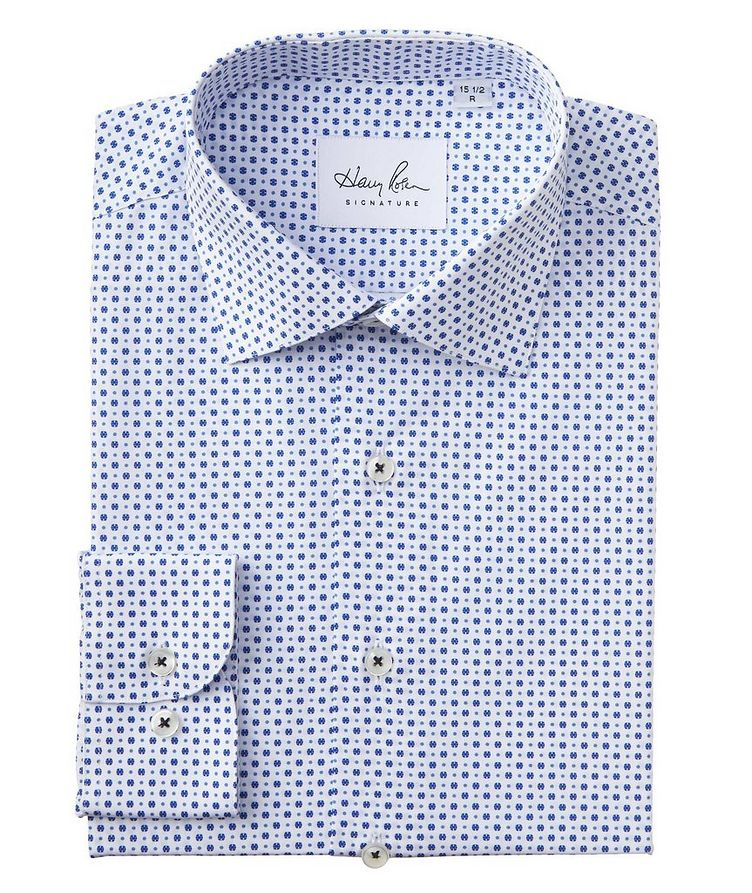 Contemporary Fit Dotted Cotton Dress Shirt image 0