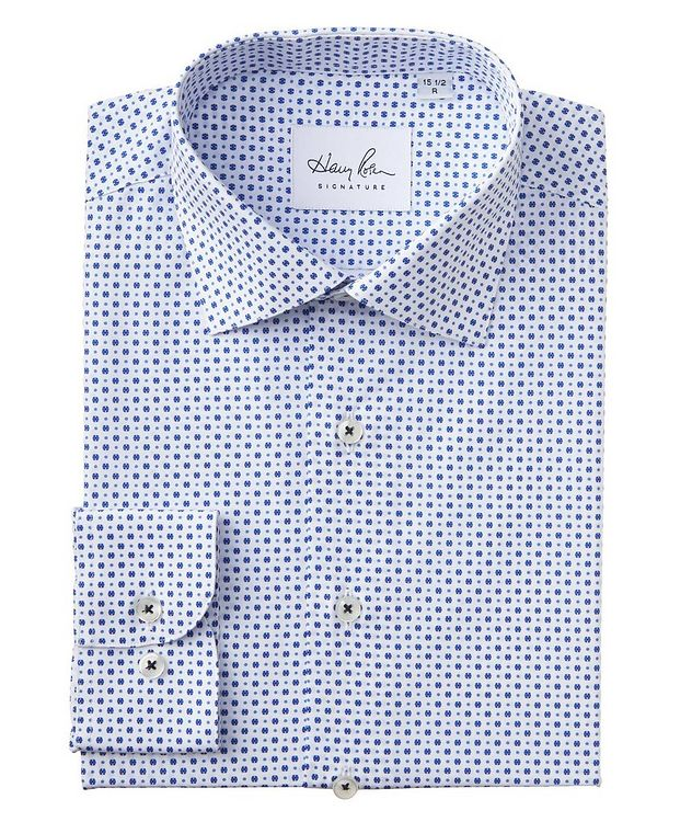 Contemporary Fit Dotted Cotton Dress Shirt picture 1