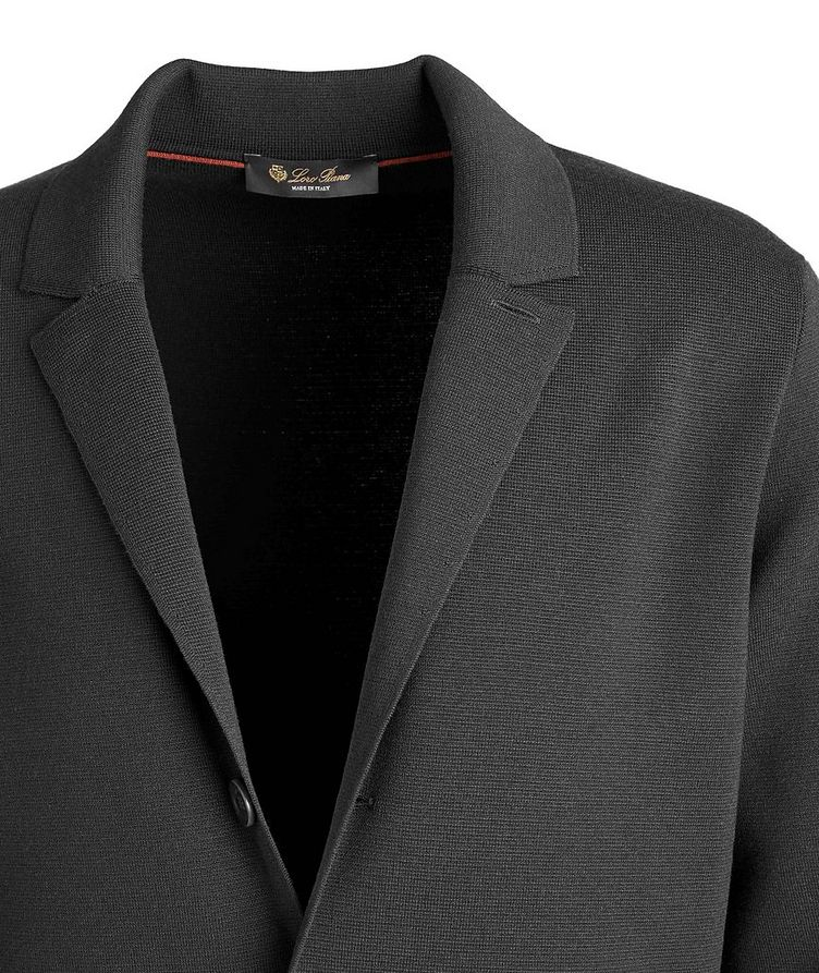 Unstructured Wool Knit Jacket image 2