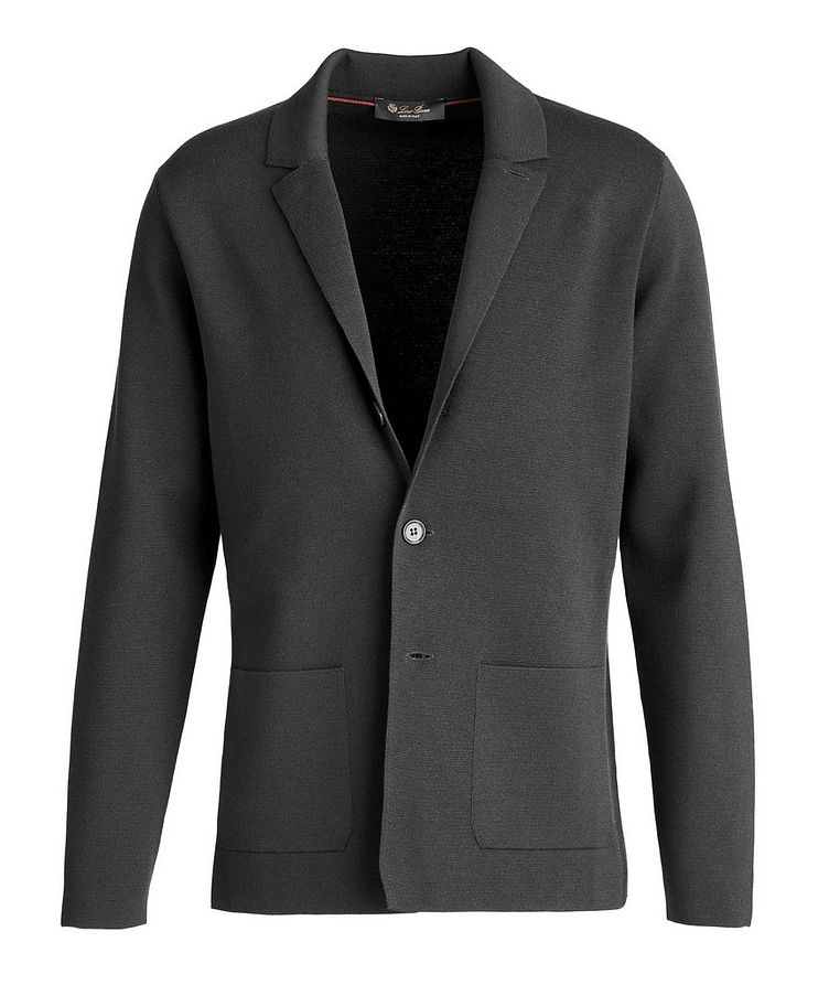 Unstructured Wool Knit Jacket image 0