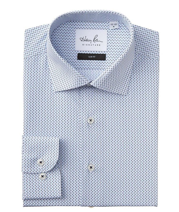 Slim Fit Printed Cotton Dress Shirt image 0