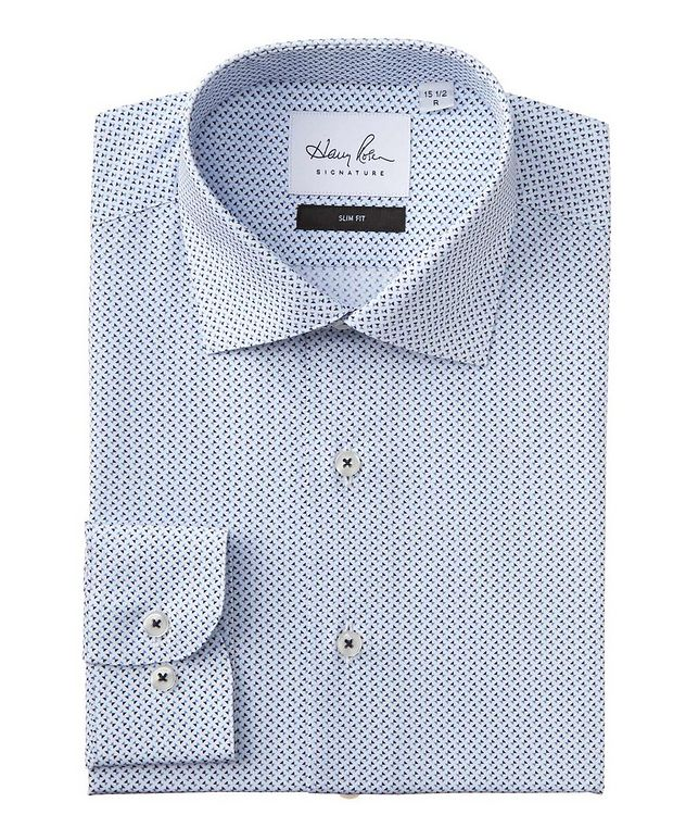 Slim Fit Printed Cotton Dress Shirt picture 1