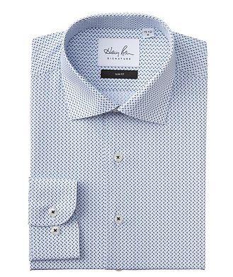 Harry Rosen Signature Slim Fit Printed Cotton Dress Shirt
