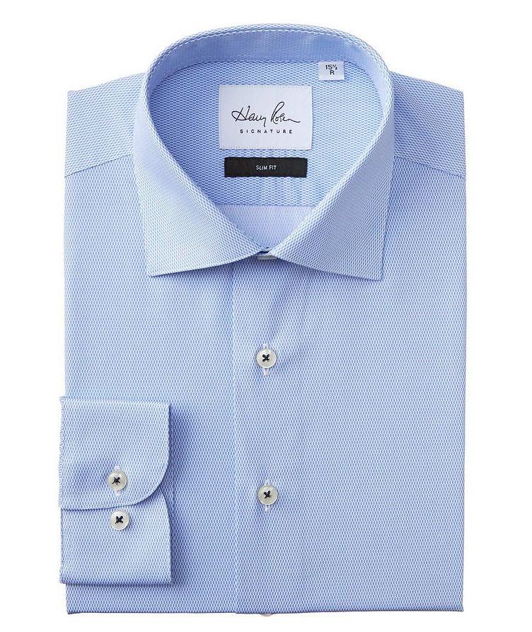 Slim Fit Printed Cotton Dress Shirt image 0