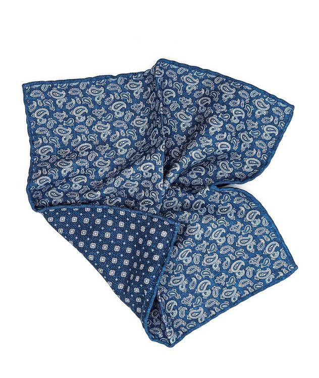 Mouchoir de poche imprimé en soie picture 1