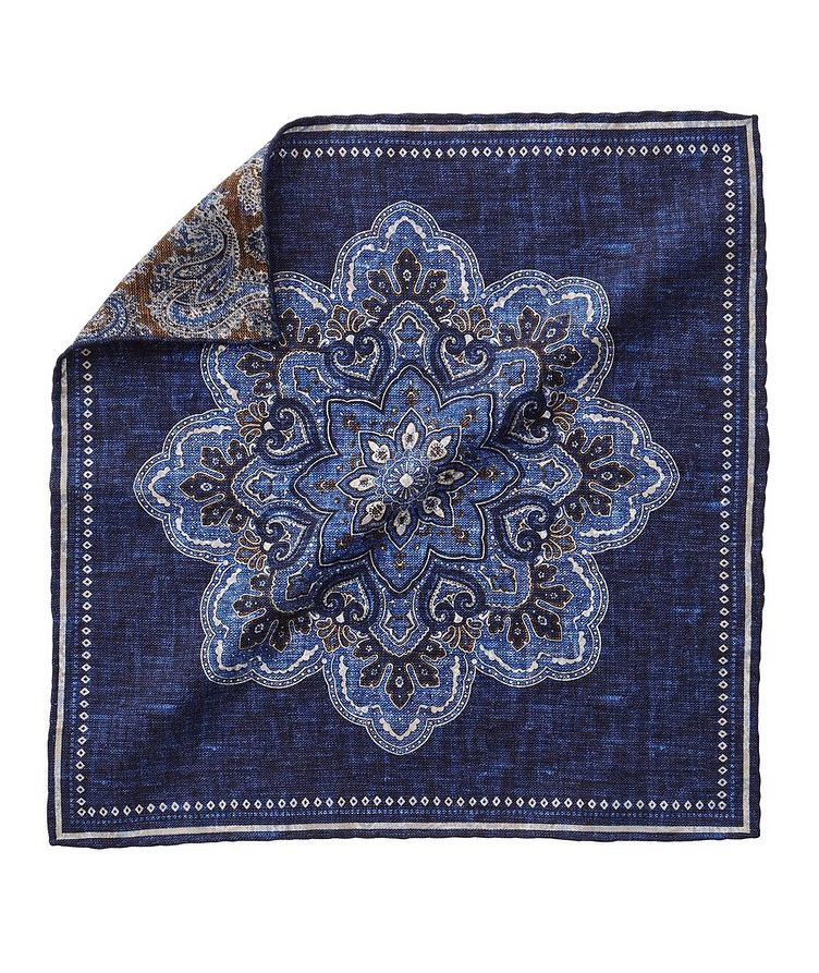 Reversible Silk-Cotton Pocket Square image 0