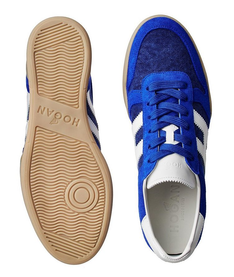 Suede and Mesh Sneakers image 2