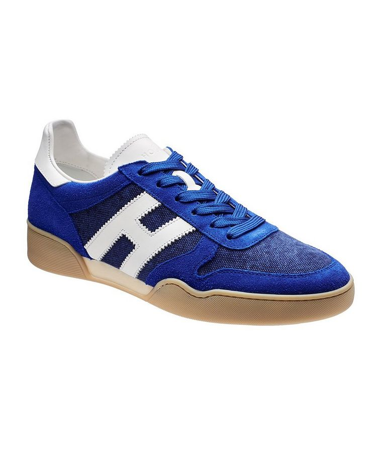 Suede and Mesh Sneakers image 0