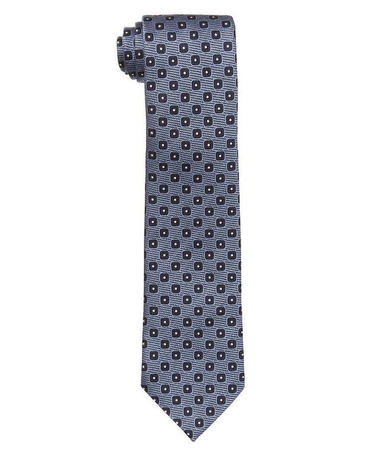 Neat-Printed Silk Tie image 0
