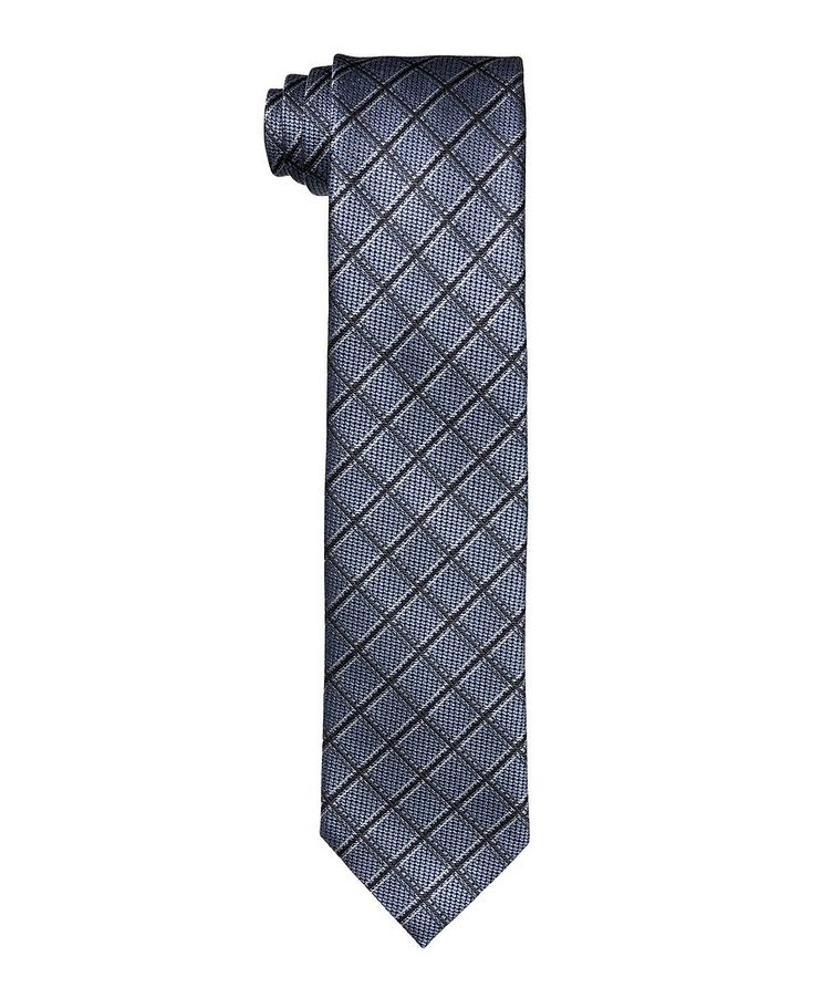 Printed checked Tie image 0