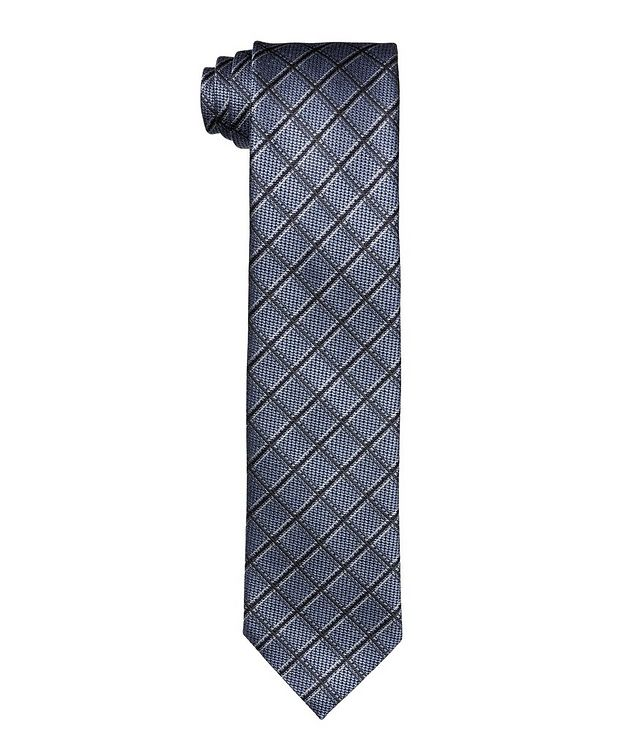 Printed checked Tie picture 1