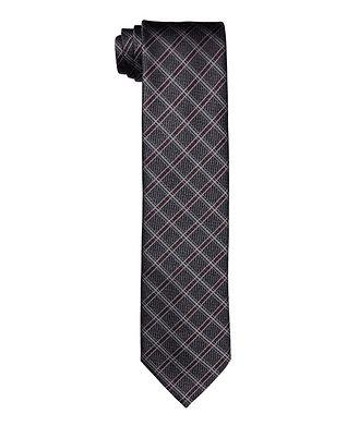 Ermenegildo Zegna Printed Checked Tie