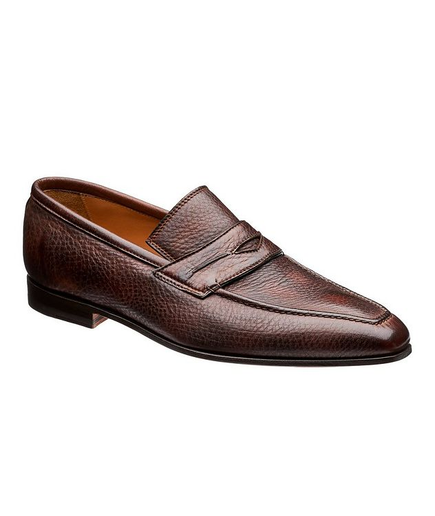 Burnished Deerskin Penny Loafers picture 1