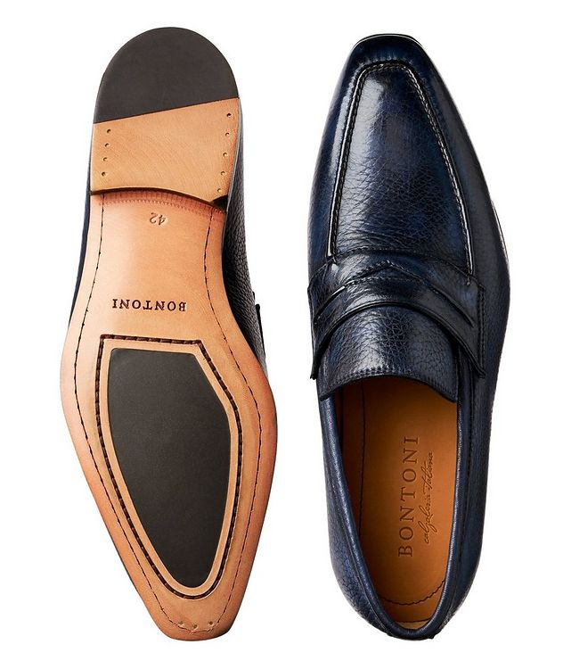 Burnished Deerskin Penny Loafers picture 3