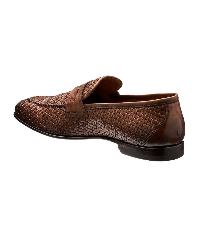 Flex Woven Leather Loafers image 1