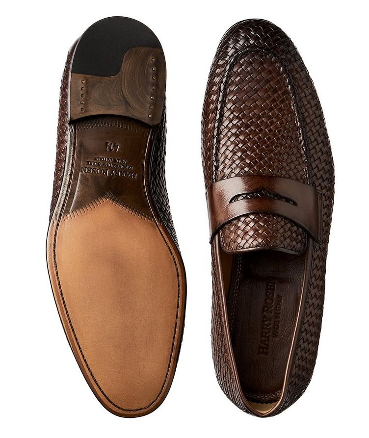 Flex Woven Leather Loafers image 2
