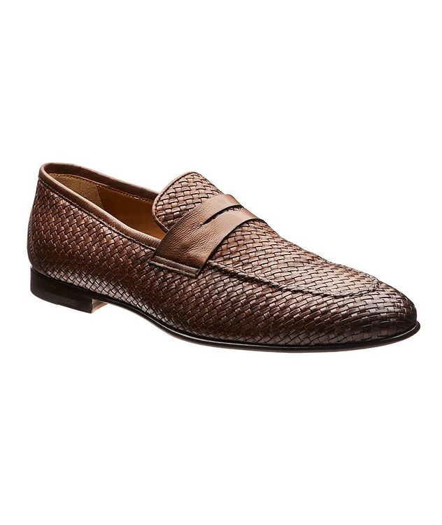 Flex Woven Leather Loafers picture 1