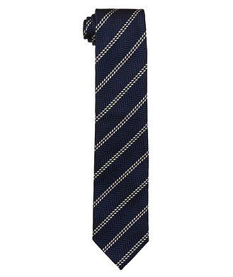 Ermenegildo Zegna Striped Silk Tie