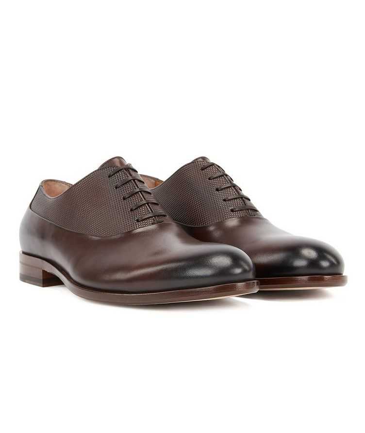 Embossed Leather Oxfords image 1