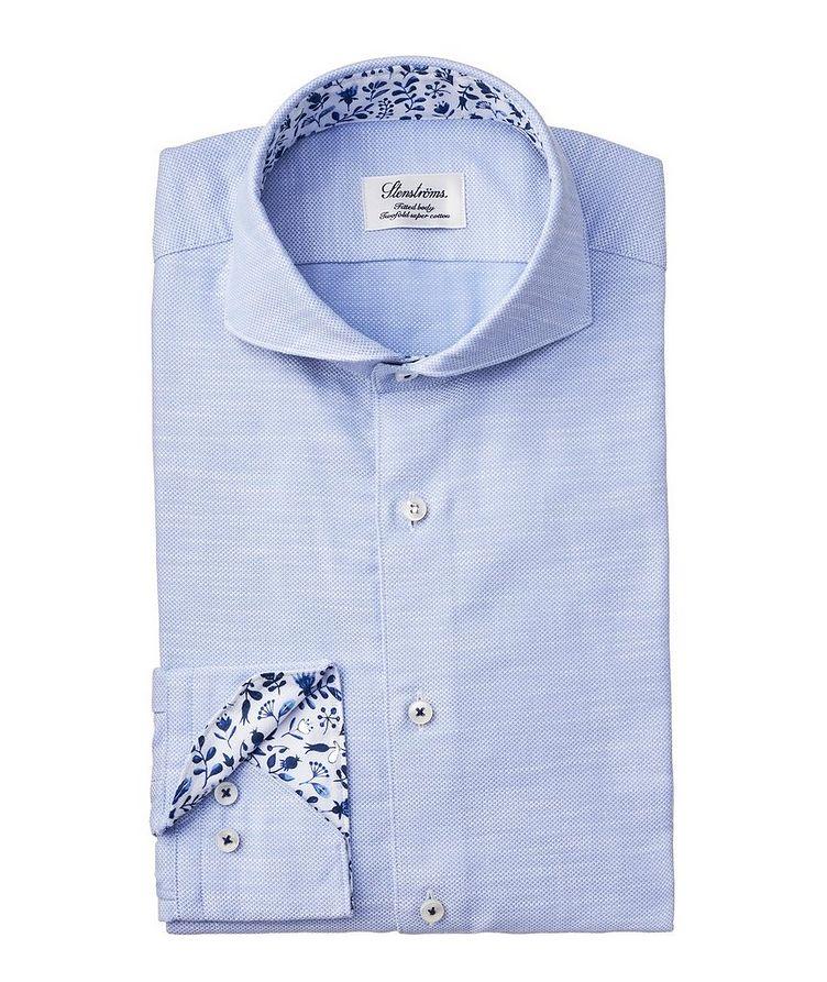 Fitted Body Diamond-Printed Dress Shirt image 0