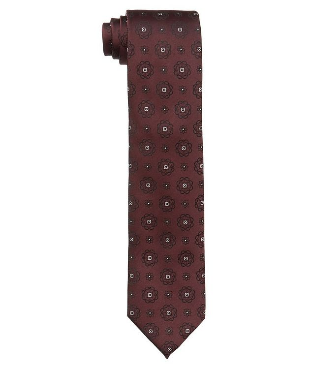 Neat-Printed Silk Tie picture 1