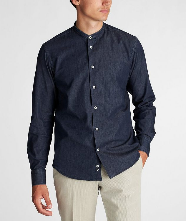 Collarless Cotton Shirt picture 2