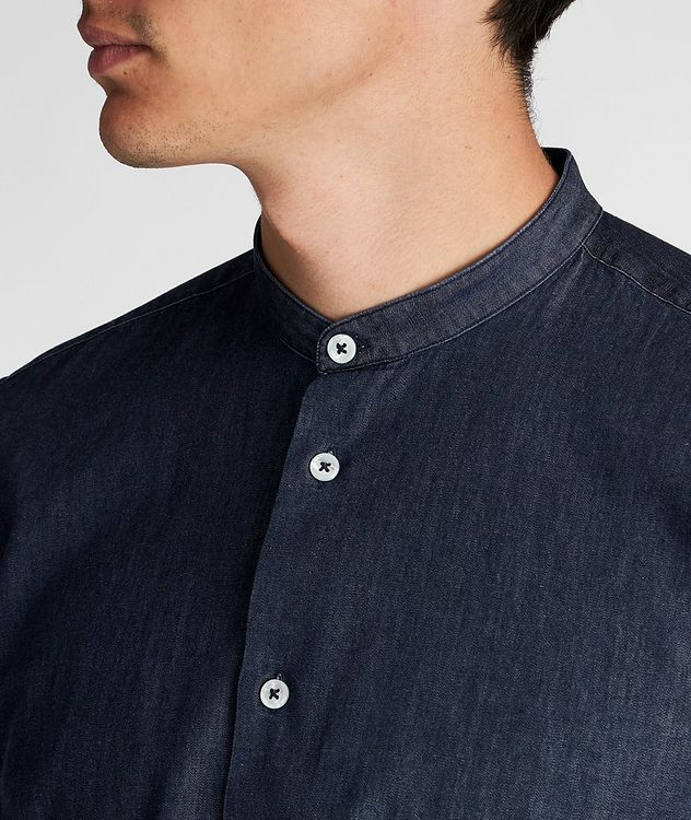 Collarless Cotton Shirt picture 4